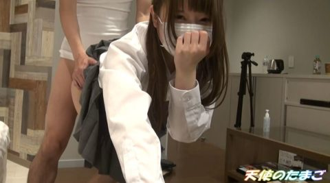 【素人】可愛い制服女子のガチハメ撮り。生チンポで挿入させてるんだが…(動画)・27枚目