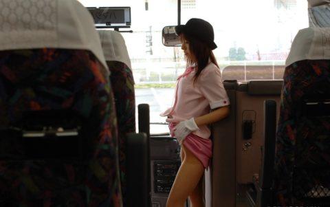 【エロ画像】最近のバスガイドさんのファッションがこちら。エロすぎない??・1枚目