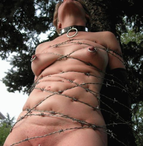 【調教】上級者の女しかできない有刺鉄線プレイがこちらです。。(エロ画像)・13枚目
