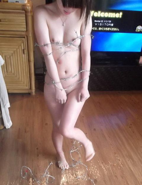 【調教】上級者の女しかできない有刺鉄線プレイがこちらです。。(エロ画像)・16枚目