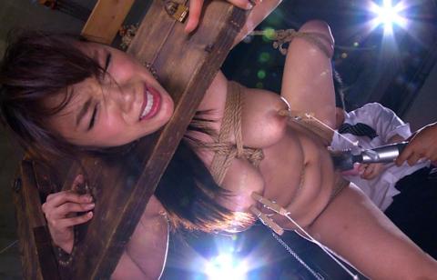 【エロ画像】ギロチン拘束とかいう拷問器具でヤラれる女たち。。(25枚)・22枚目