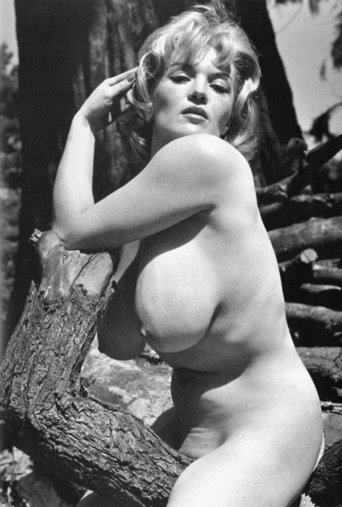【海外エロ】昔の白黒写真の全裸女性たち、、マン毛が剛毛すぎるんやがwwwwww・13枚目