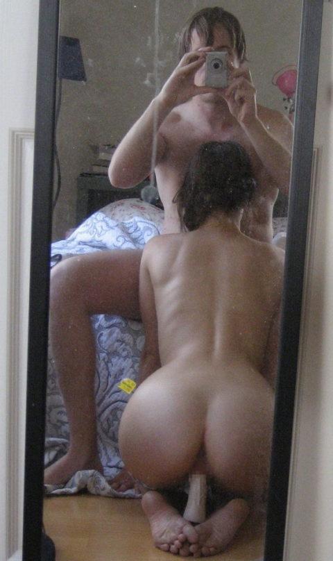 【素人エロ】ラブホの鏡で撮影した素人女子のエロ画像まとめ(26枚)・26枚目