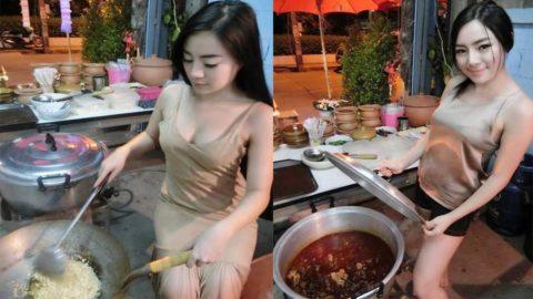 【おっぱい】台湾の屋台店員さん、品物より身体で集客するwwwwww・7枚目