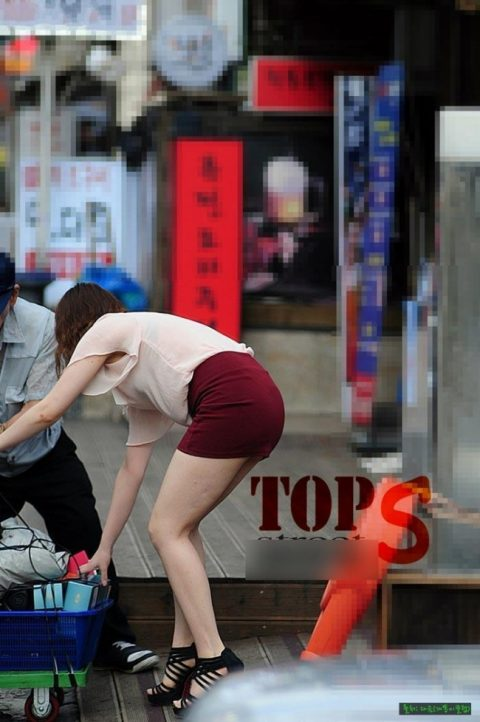 【韓国エロ】隣国に行ったワイ、街中で撮りまくった結果wwwwww(100枚)・46枚目