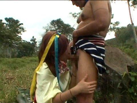 原住民VS日本女の異人種セックスのインパクトが半端じゃないwwwwww(エロ画像)・15枚目