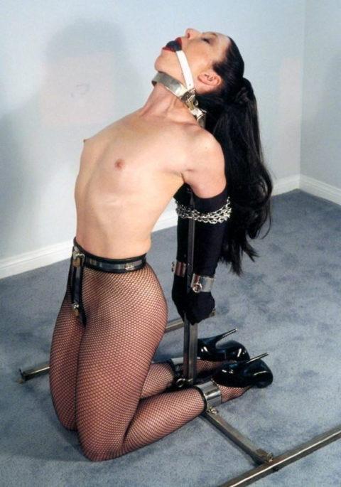 【エロ画像】どうしても性欲を抑えられない女に付ける器具がこちら。(貞操帯)・24枚目