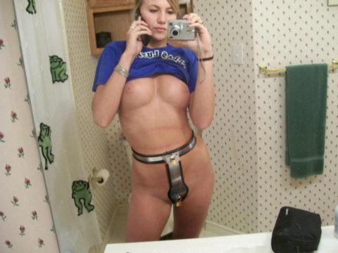 【エロ画像】どうしても性欲を抑えられない女に付ける器具がこちら。(貞操帯)・4枚目