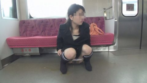 【AVエロ】電車内で「オシッコ」してるヤバすぎる作品・・・(エロ画像)・17枚目