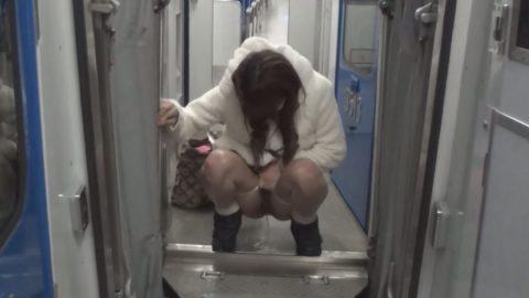 【AVエロ】電車内で「オシッコ」してるヤバすぎる作品・・・(エロ画像)・4枚目