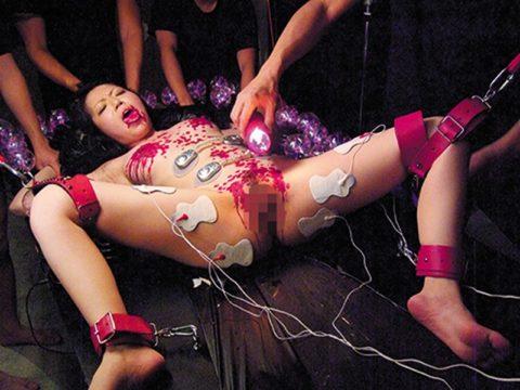 【エロ画像】身体にビッリビリ電流を流された女たち・・・・7枚目