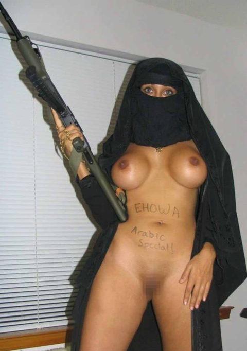 イスラム教徒の女さん、SNSに裸体をうp・・・これバレたらヤバいwwwwww(エロ画像)・33枚目