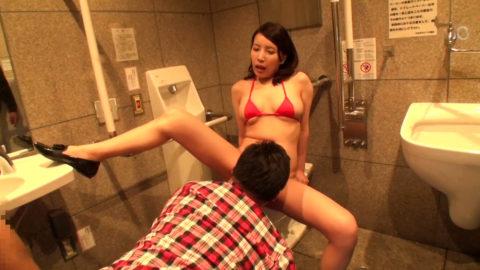 【エロ画像】最近流行りの「多目的トイレ」でヤッてる人たちwwwwww・21枚目