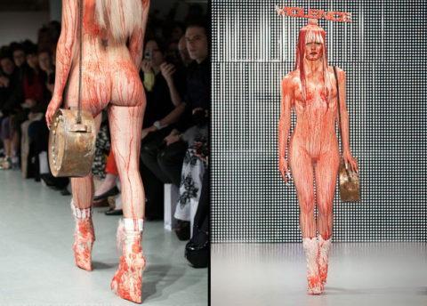 【エロGIF】ファッションショーなのに全裸ってどういう事なん?wwwwww・17枚目