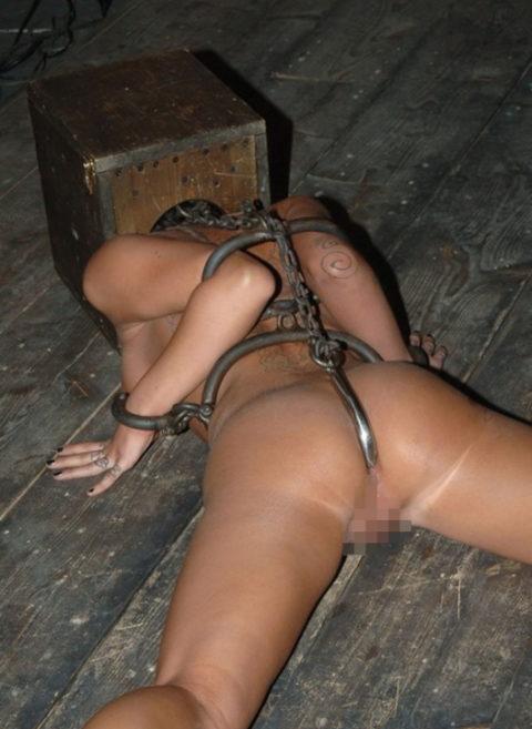ケツの穴にフックを引っ掛けて拷問する方法が殺人的すぎる件・・・(エロ画像)・15枚目