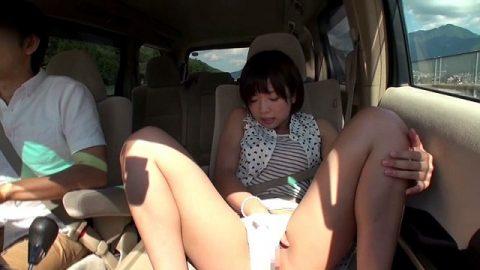 ビッチ女さん、渋滞中の車内でとんでない行動に出る。。(エロ画像)・21枚目