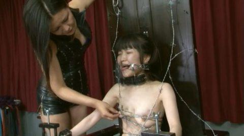 【究極調教】有刺鉄線やホッチキスで固定された女たち・・・・・11枚目