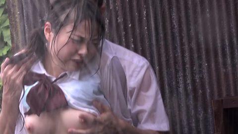 レイプ被害に遭った女の子…雨の中ヤラれるのはキツいやろなぁ。(エロ画像)・22枚目