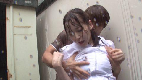 レイプ被害に遭った女の子…雨の中ヤラれるのはキツいやろなぁ。(エロ画像)・23枚目