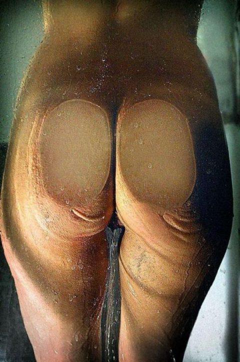 尻フェチの為のエロ画像。ガラスに押し付けて誘ってくるお尻女子(エロ画像)・14枚目