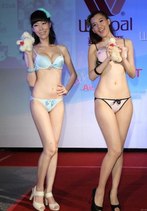 中国の下着モデルさん、マンコはみ出てもモーマンタイwwwwwww・20枚目