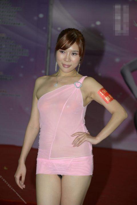 中国の下着モデルさん、マンコはみ出てもモーマンタイwwwwwww・28枚目