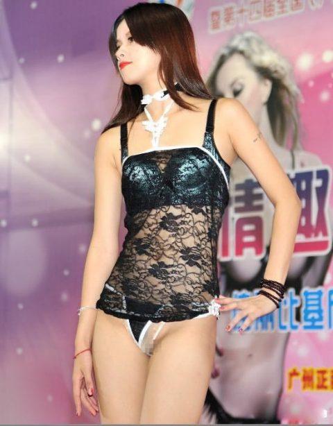 中国の下着モデルさん、マンコはみ出てもモーマンタイwwwwwww・3枚目