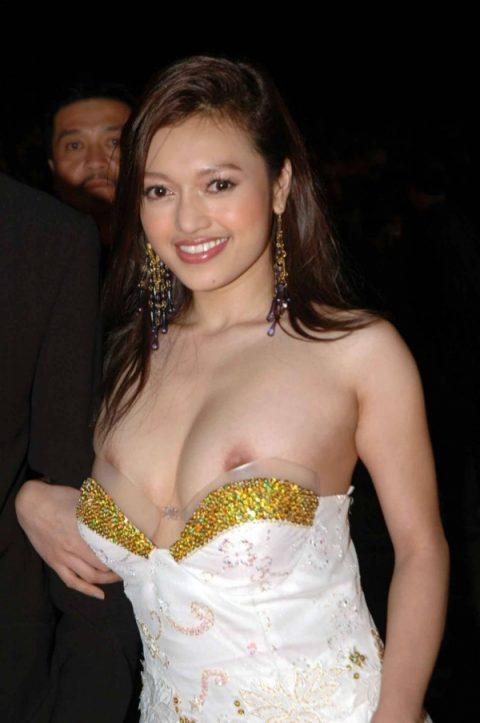 【ポロリハプニング】乳首がハッキリ見えた女性たちの決定的瞬間(142枚)・98枚目